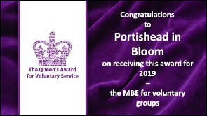 Portishead in Bloom has been awarded The Queen's Award for Voluntary Service
